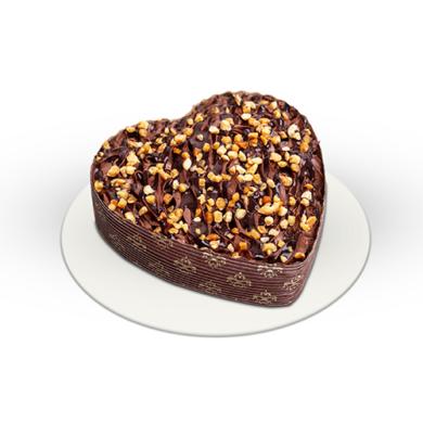 Proteines mini csokitorta szív alakú