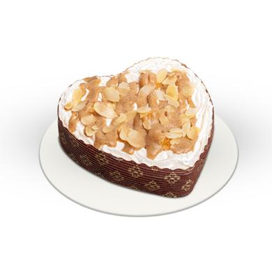 Mini Proteines almás fahéjas torta szív alakú
