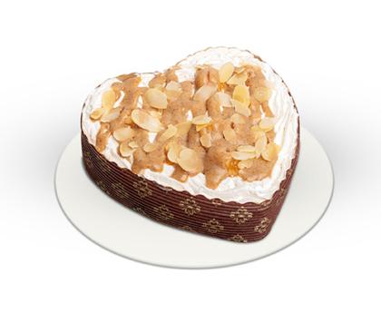 Mini Almás-fahéjas torta - szív alakú