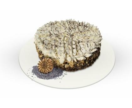 Proteines Mákosguba torta